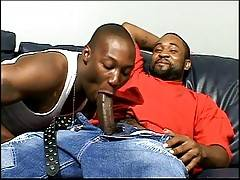 After sucking each other on the couch, this duo get into some serious ass banging action that`ll have you moaning louder than Tone Bone.