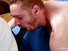 This, as Nubius knows, is perfect prep for that sweet hole to accept fat, swollen cock. Nubius takes full advantage and inserts his pulsating dong into his client`s inviting butt.